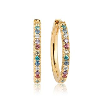 Sif Jakobs 18ct Gold Plate Multi Zirconia 20mm Hoop Earrings - Product number 6095712