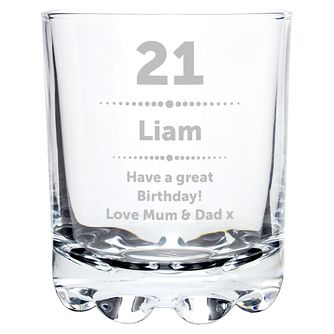 Engraved Birthday Star Whisky Glass - Product number 6098371