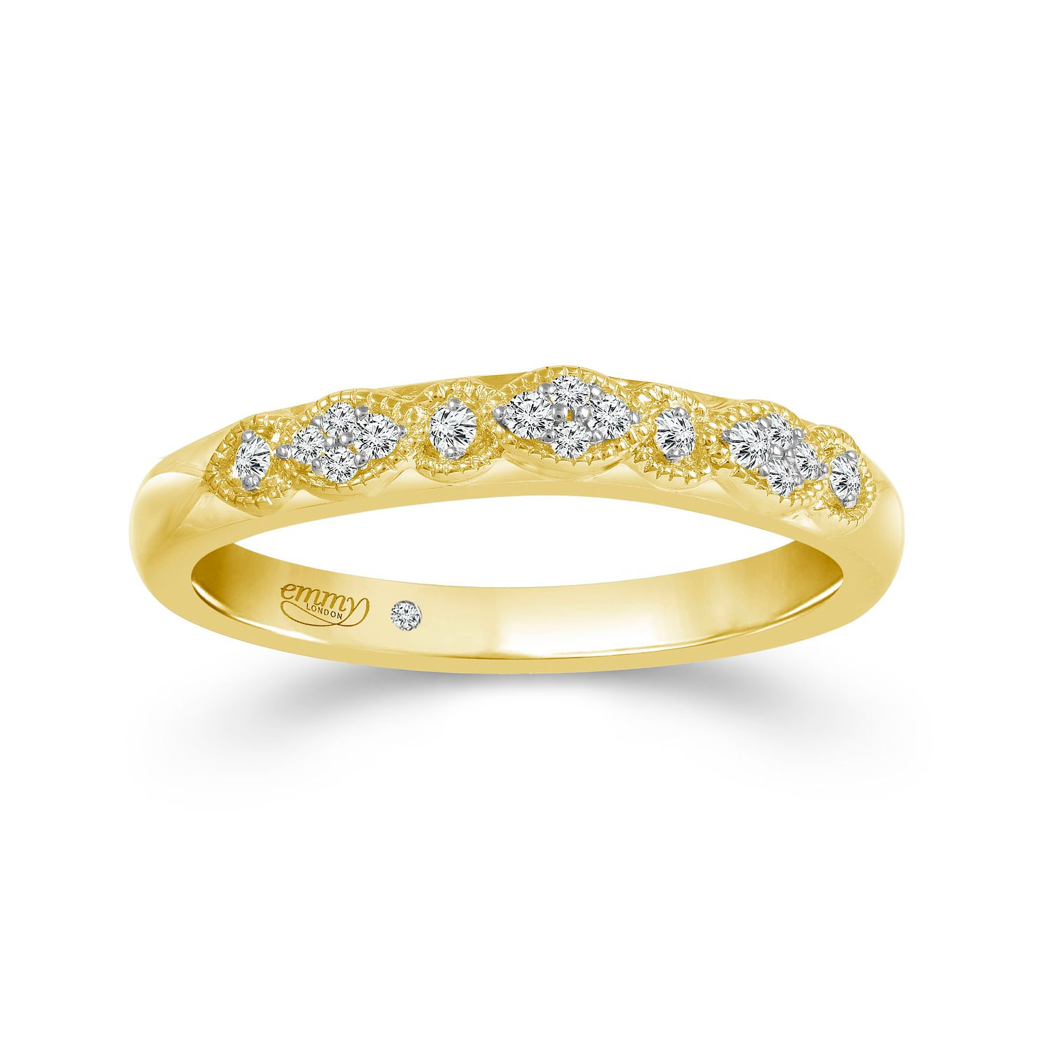 Emmy London 18ct Yellow Gold Diamond Eternity Ring - Product number 6099416