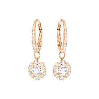 d4be25dbec8d Swarovski Sparkling Dance Rose Gold Plated Drop Earrings - Product number  6100449