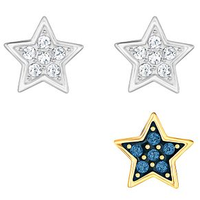 Swarovski Crystal Wishes Two Colour Star Earrings - Product number 6100511