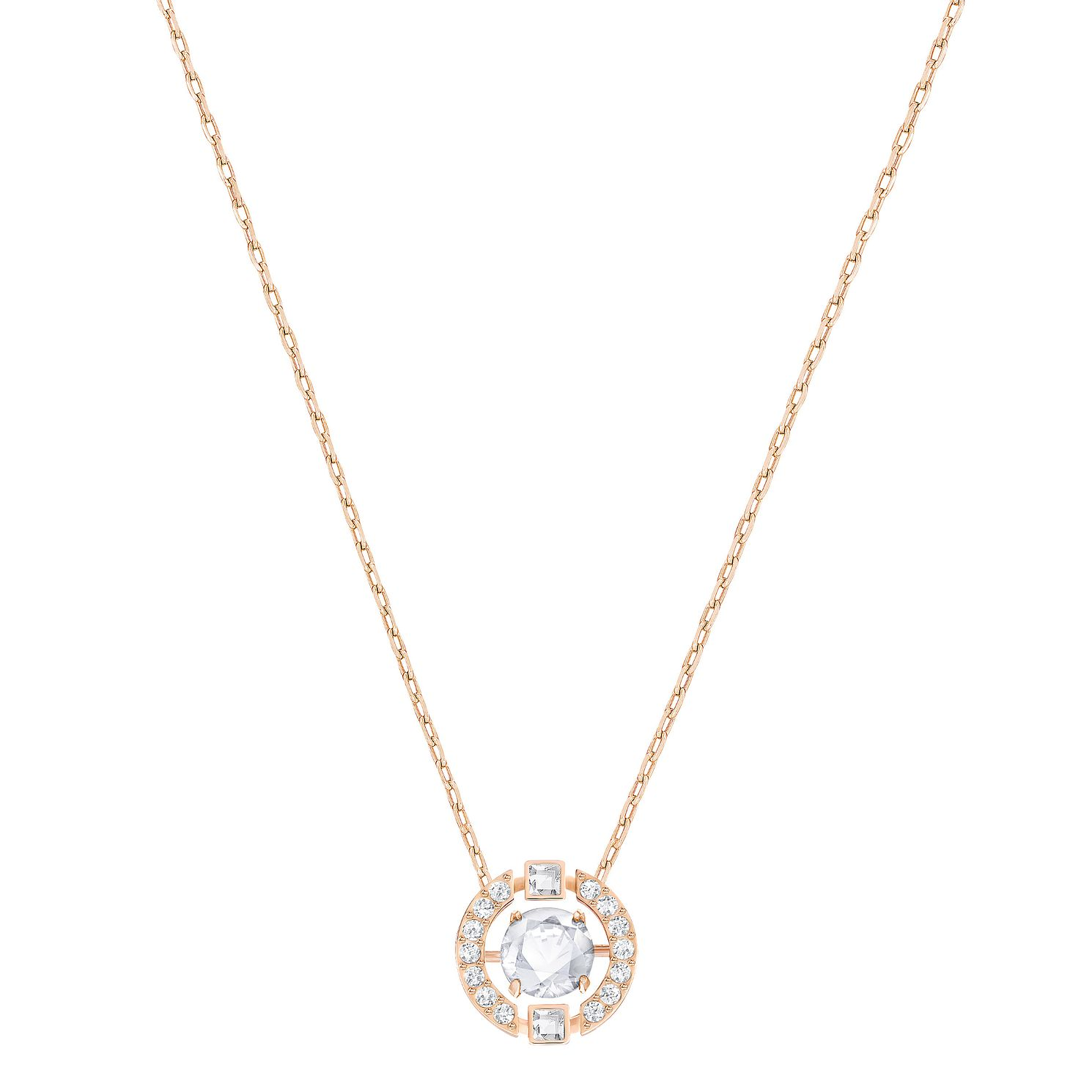 Swarovski Sparkling Dance Rose Gold Plated Pendant - Product number 6100724