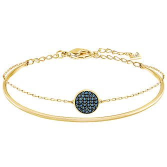 Swarovski Ginger Gold Plated Stone Set Bangle - Product number 6100864