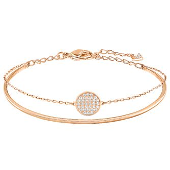 Swarovski Ginger Rose gold Plated Stone Set Bangle - Product number 6101003
