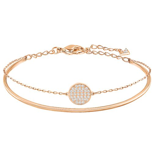 Swarovski Ginger Rose gold Plated Stone Set Bangle - Product number 6101003 d1769811bf