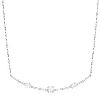 Swarovski Gray Stone Set Necklace - Product number 6101089