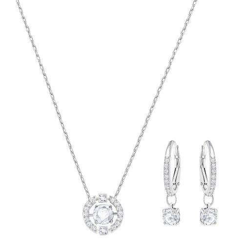 Swarovski Sparkling Dance Round Necklace and Earring Set - Product number 6101259