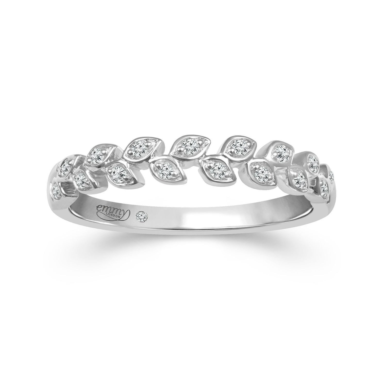 Emmy London Platinum Diamond Leaf Eternity Ring - Product number 6103626