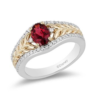 Enchanted Disney Fine Jewelry Garnet & Diamond Anna Ring - Product number 6110517