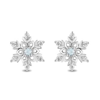 Enchanted Disney Fine Jewelry Topaz & Diamond Elsa Earrings - Product number 6110819