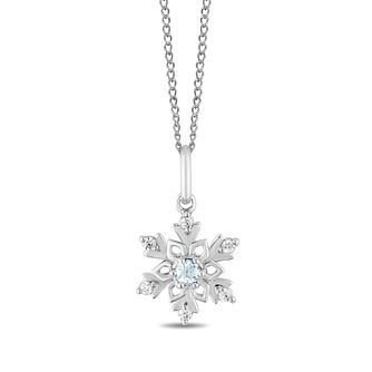 Enchanted Disney Fine Jewelry Topaz & Diamond Elsa Pendant - Product number 6110835