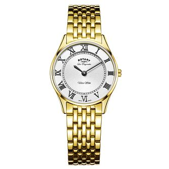 Rotary Les Originales Ultraslim Ladies' Black Strap Watch - Product number 6111777