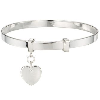 Molly Brown Sterling Silver Love Heart Bangle - Product number 6116531