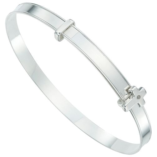 Sterling Silver Diamond Set Expander Bangle - Product number 6135811