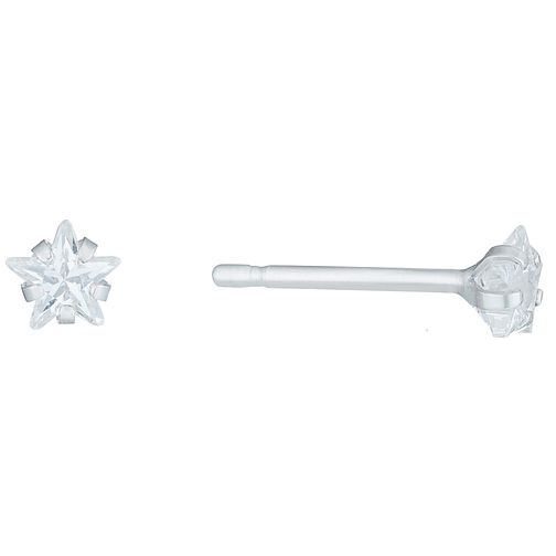 Sterling Silver Cubic Zirconia Star Stud Earrings - Product number 6136168