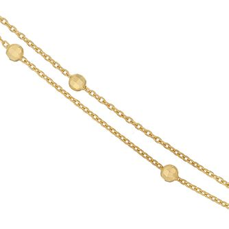 9ct Gold Glitter Ball Double Chain Necklace - Product number 6138721