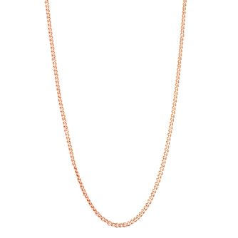 "9ct Rose Gold 25G 18"" Curb Chain Necklace - Product number 6139388"