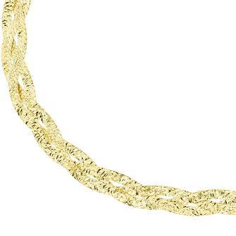 9ct Yellow Gold 7.25 Inch Herringbone Chain Bracelet - Product number 6139892