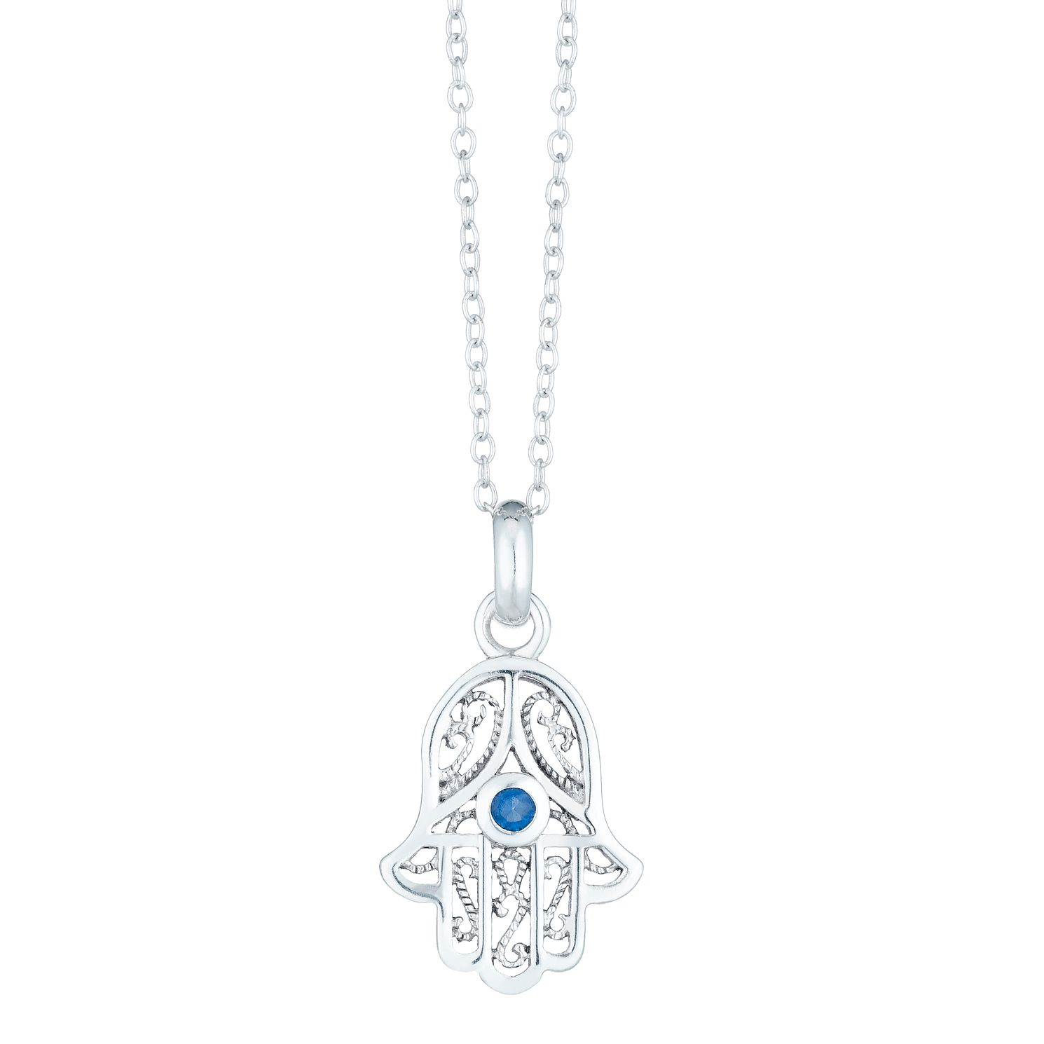 Sterling Silver Hamsa Pendant - Product number 6140661