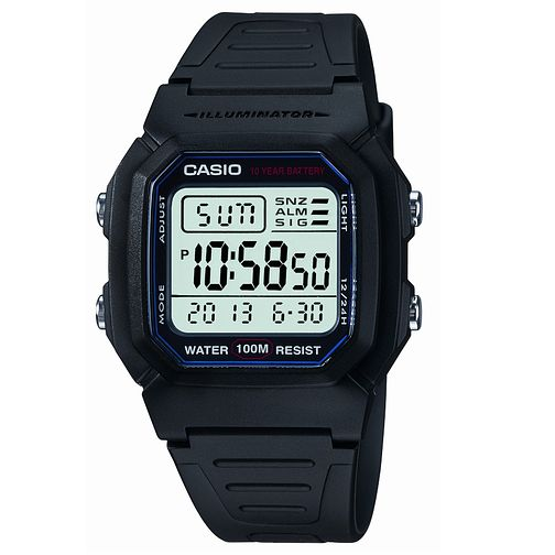 Casio Men's Black Resin Strap Digital Watch - Product number 6142583