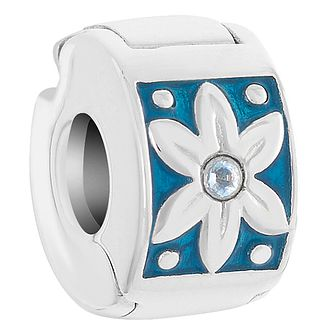 Chamilia Sterling Silver Teal Petals Lock Charm - Product number 6142745