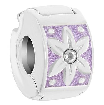 Chamilia Sterling Silver Purple Petals Lock Charm - Product number 6142788