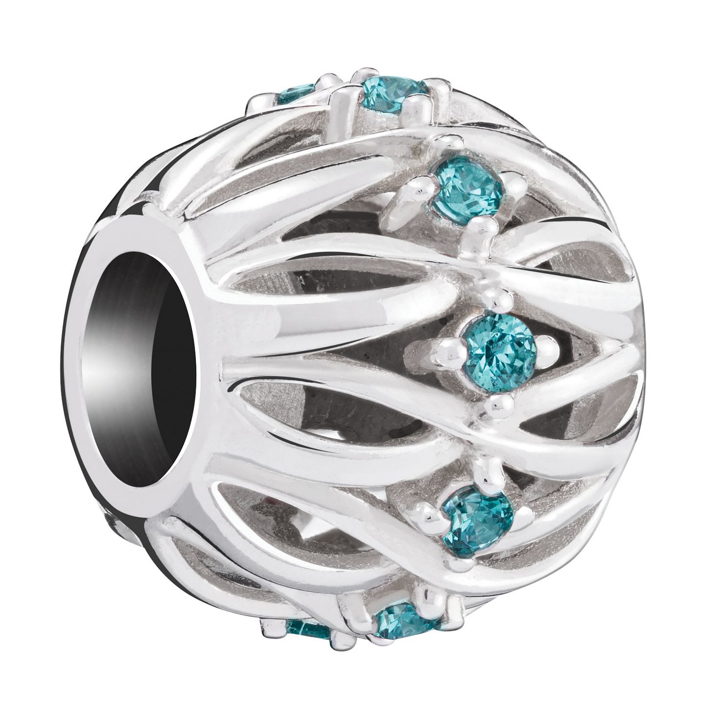 Chamilia Twisted Ribbons Charm with Mint Swarovski Zirconia - Product number 6143571