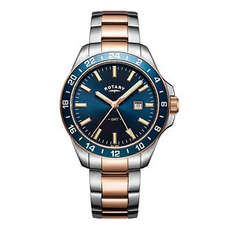 Rotary Men's Havana Two Tone Bracelet Watch - Product number 6144969