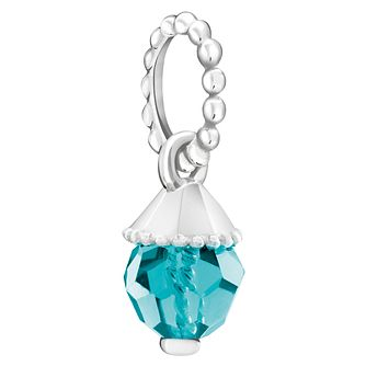 Chamilia Teardrop Accent Blue Zircon Crystal Charm - Product number 6145167