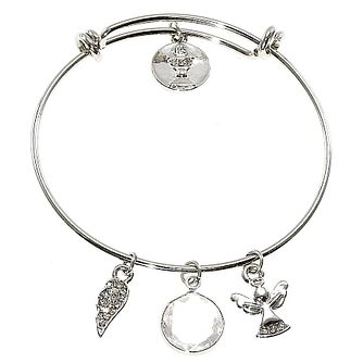 Cailin Stainless Steel Chalice & Charms Expander Bangle - Product number 6146961