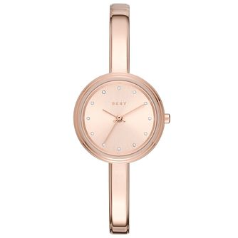 DKNY Ladies' Rose Gold Tone Bracelet Watch - Product number 6153399