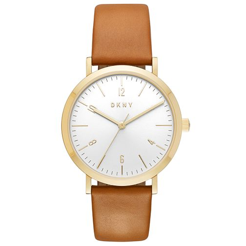 DKNY Ladies' Gold Tone Strap Watch - Product number 6153445