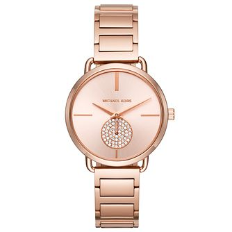 Michael Kors Portia Ladies' Rose Gold Tone Bracelet Watch - Product number 6153828