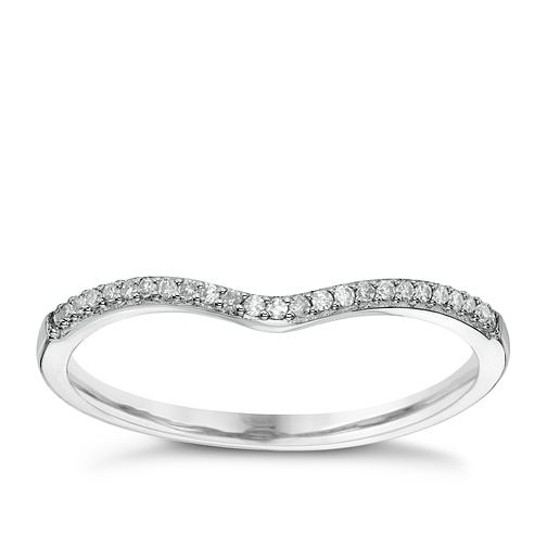9ct White Gold Diamond Shaped Wedding Band - Product number 6155065