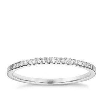 9ct White Gold Diamond Wedding Band - Product number 6155642