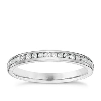 Platinum Channel Set 0.20ct Diamond Wedding Band - Product number 6157904