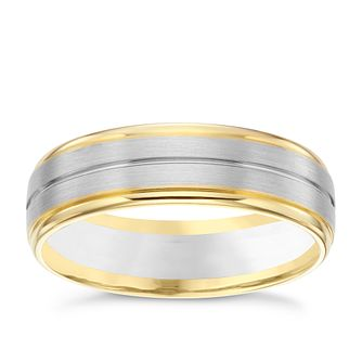 Palladium 9ct Yellow Gold 6mm Wedding Band - Product number 6160964