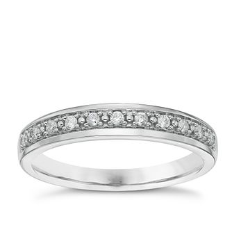 18ct White Gold 0.10ct Diamond Wedding Band - Product number 6162789