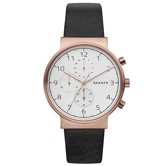 Skagen Men's Rose Gold Tone Strap Watch - Product number 6165354