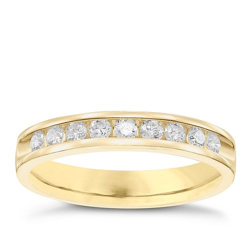 9ct Yellow Gold 33pt Diamond Wedding Band - Product number 6168566