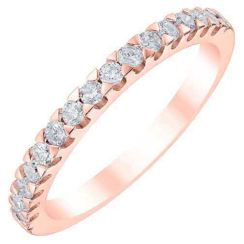 18ct Rose Gold 0.33ct Diamond Wedding Band - Product number 6169759