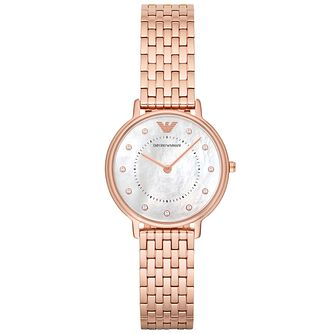 Emporio Armani Ladies' Rose Gold Tone Bracelet Watch - Product number 6171443