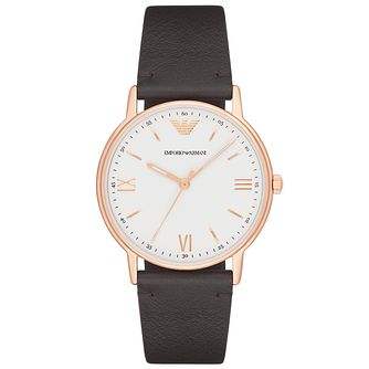Emporio Armani Men's Rose Gold Tone Strap Watch - Product number 6171540