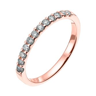 18ct Rose Gold 0.25ct Wedding Band - Product number 6172032