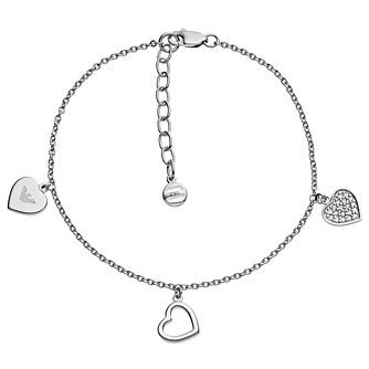 Emporio Armani Sterling Silver Charm Bracelet - Product number 6174337