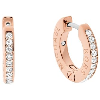 Michael Kors Rose Gold Tone Stone Set Earrings - Product number 6175570