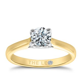 Leo Diamond 18ct yellow & white gold 2/3ct I-SI2 ring - Product number 6175880