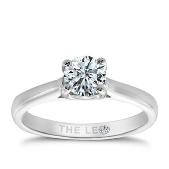 Leo Diamond platinum 2/3ct I-SI2 solitaire ring - Product number 6176151