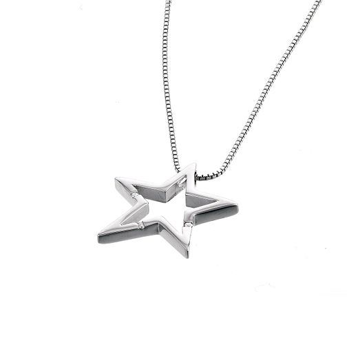 Hot Diamonds Sterling Silver Star Pendant - Product number 6181341