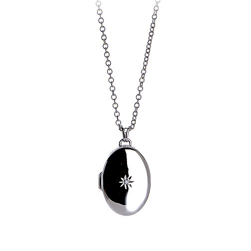 Hot Diamonds Sterling Silver Oval Locket Pendant - Product number 6181384